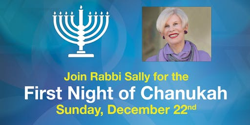 Rabbi Sally's First Night of Chanukah
