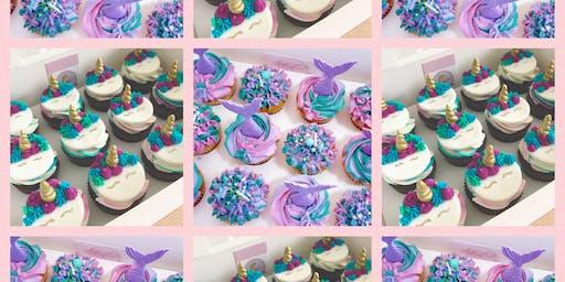 Mermaid and Unicorn Cupcake Decorating Class