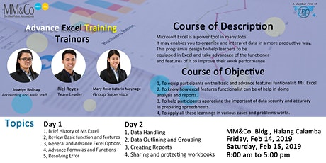 Advanced Excel - Day 2 tickets