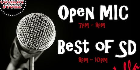 Open Mic + Best of SD (Free Show) tickets