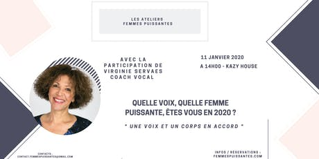 """Femmes Puissantes """" Une voix et un corps en accord """" avec Virginie Servaes tickets"""