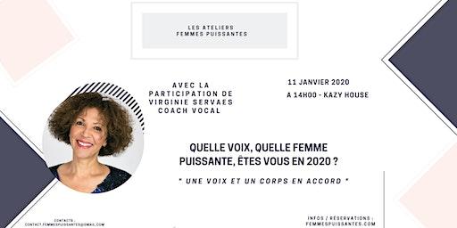 """Femmes Puissantes """" Une voix et un corps en accord """" avec Virginie Servaes"""
