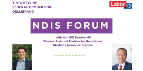 NDIS Forum with Bill Shorten  tickets