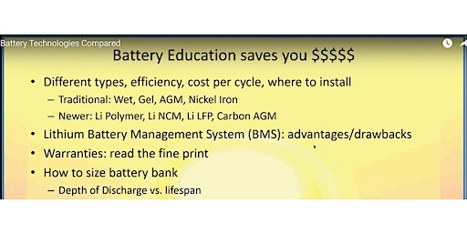 NTREG Dec Mtg: Battery Technologies Compared (free, open to public)