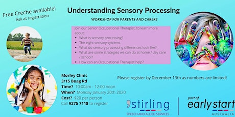 Understanding Sensory Processing - Workshop for Parents and Carers Morley tickets