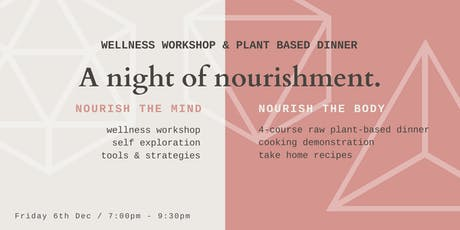 Wellness Workshop & 4 Course Plant Based Dinner tickets