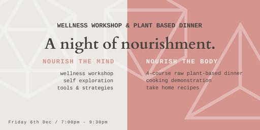 Wellness Workshop & 4 Course Plant Based Dinner