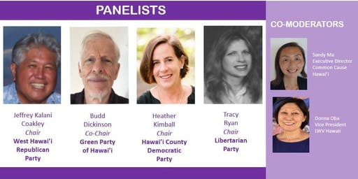 Mtg. & Panel: The Big Island's Political Parties Prepare for 2020 Election