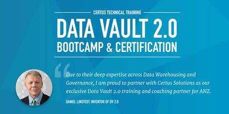 Data Vault 2.0 Boot Camp & Certification - SYDNEY NOVEMBER 24-26TH 2020 tickets