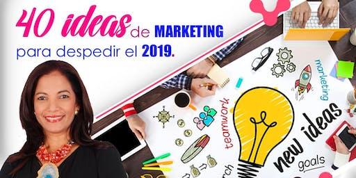 40 ideas de marketing para despedir el 2019