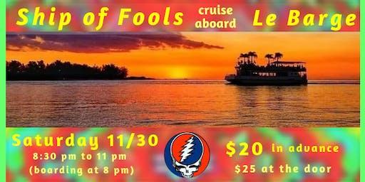 Ship of Fools cruise aboard Le Barge Tropical Cruises on Sarasota Bay