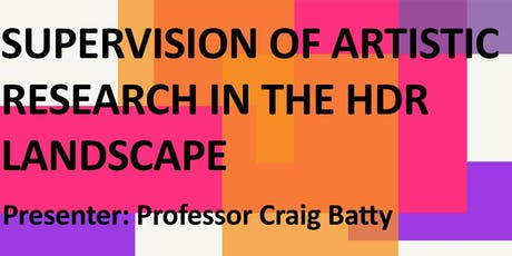 Supervision of Artistic Research in the HDR Landscape tickets