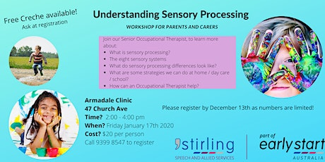 Understanding Sensory Processing - Workshop for Parents and Carers Armadale tickets