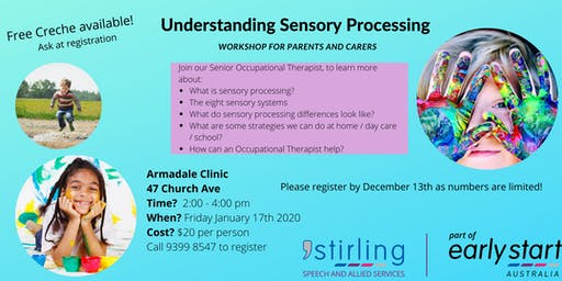 Understanding Sensory Processing - Workshop for Parents and Carers Armadale