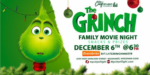 The Grinch Family Movie Night @ City of Light