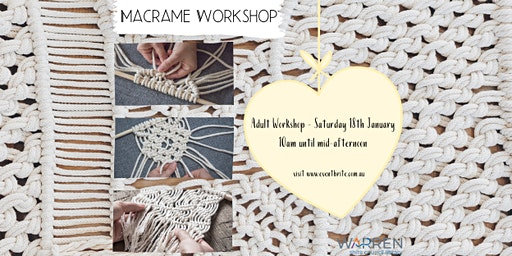 Macrame Workshop - for Adults