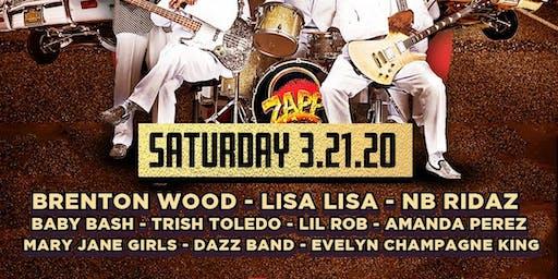 ZAPP, Brenton Wood, Lisa Lisa, NB Ridaz, Baby Bash, Lil Rob & more