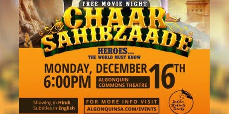Screening of Chaar Sahibzaade tickets