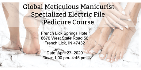 Specialized Electric File Pedicure Workshop Includes Kit $225 Value tickets