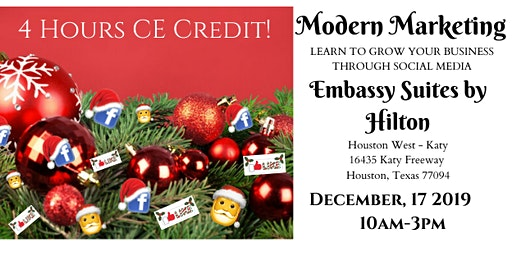 Give yourself the Gift of Modern Marketing, AND 4 hour CE!!