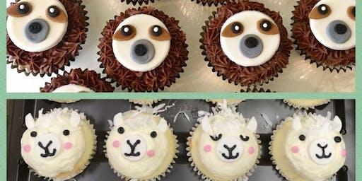 Llama AND Sloth Cupcake Decorating Class