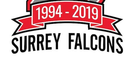 Surrey Falcons 25th Anniversary tickets