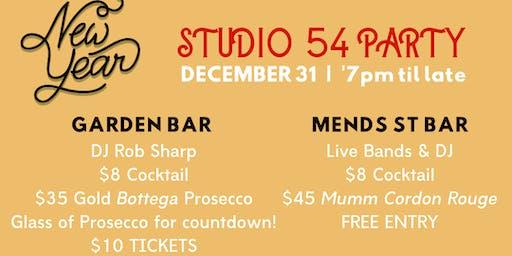Studio 54 NYE Party | Garden Bar