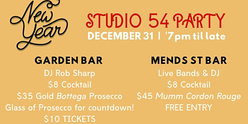 Studio 54 NYE Party | Garden Bar