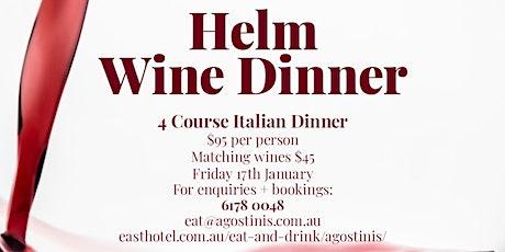 Helm Wine Dinner tickets