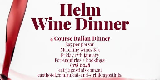 Helm Wine Dinner