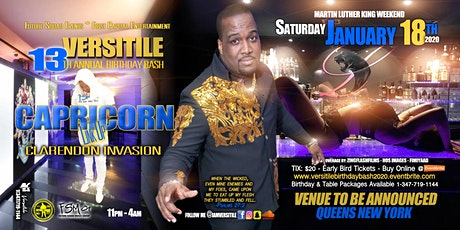 VERSITILE BIRTHDAY BASH | CAPRICORN LINK UP | CLARENDON INVASION tickets