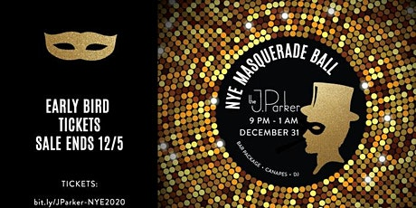 The J. Parker NYE Masquerade Ball tickets