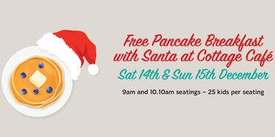 Free Pancake Breakfast with Santa at Cottage Cafe