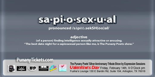 """Sapiosexual"" Valentine's Day in Arlington, TX"