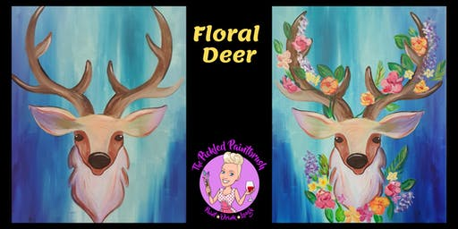 Painting Class - Floral Deer - December 18, 2019