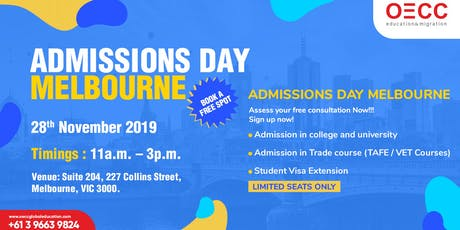 FREE ADMISSIONS DAY MELBOURNE tickets