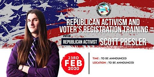Republican Activism & Voter's Registration Training