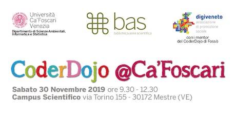 CoderDojo @Ca'Foscari - Mestre, 30 novembre 2019 biglietti