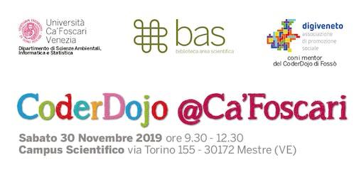 CoderDojo @Ca'Foscari - Mestre, 30 novembre 2019