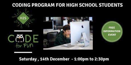 Hack High School Coding Program - Free December Information Event tickets