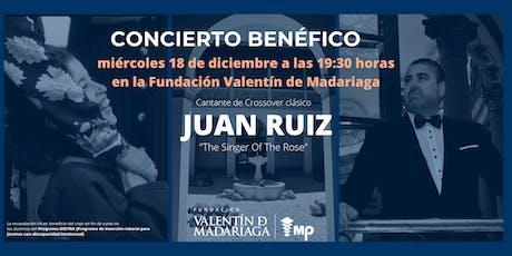 Juan Ruiz -Concierto Benéfico Distra entradas