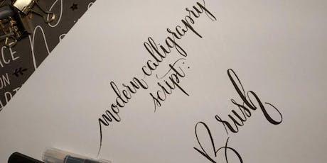 Calligrafia moderna: Brush Lettering biglietti