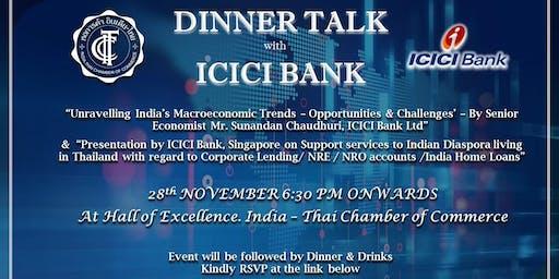 DINNER TALK WITH ICICI BANK
