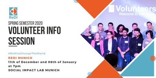 ReDI Munich Volunteer Info Session (Spring Semester 2020)