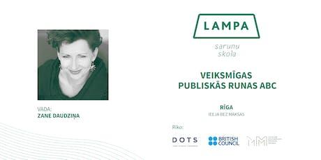 Sarunu skola LAMPA: #17 nodarbība Rīgā tickets