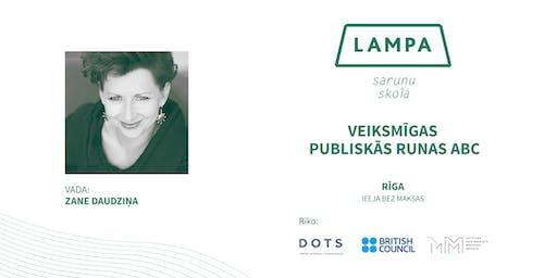 Sarunu skola LAMPA: #17 nodarbība Rīgā