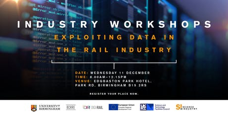 Industry Workshops - Exploiting Data in the Rail Industry tickets