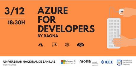 Azure For Developers - Tarde entradas