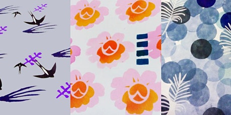 Botanical Patterns for textile decoration - Saturday creative printmaking workshop tickets