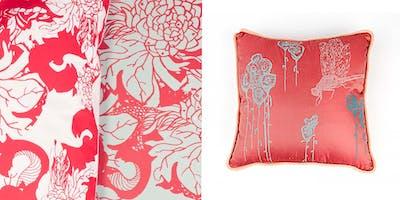 Botanical Pattern - print unique Cushion cover